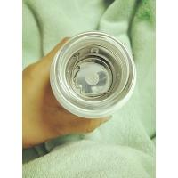 Buy cheap 320ml high borosilicate glass water bottle with silicone sleeve and  lid heat proof  clear glass cup from wholesalers