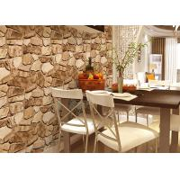 Buy cheap 3D Effect Stone Strippable Beautiful Nature Wallpaper With Foam Process product