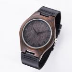 Buy cheap Men'S Quartz Modern Wood Watches Japan Movement Wrist Watch Leather Belt from wholesalers