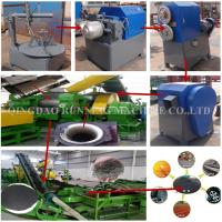 Buy cheap Semi Auto Rubber Tyre Recycling Machine / Rubber Tire Shredder ISO Certification from wholesalers