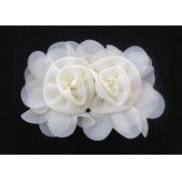 Buy cheap Apricot 120D Chiffon Handmade Artificial Fabric Flower Corsage For Hair Accessories from wholesalers