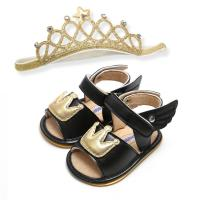 Buy cheap Prince and princess angel wings Crown shoes Wedding gift girl toddler sandals from wholesalers