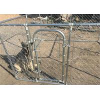 Buy cheap 3 x 3 x 1.8m dog kennel Outer tubing mesh 75x75x2.0 dog kennel hdg tube from wholesalers