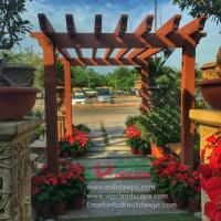 Buy cheap WPC (plastic wood)outdoor pergola project,prefabricated pergola construction from wholesalers