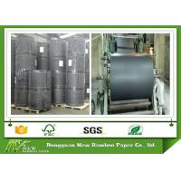 Buy cheap 100% Wood Pulp 700mm Width Black Paper Rolls with Strong Stiffness product