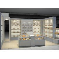 Buy cheap Shopping Mall Retail Shoe Store Fixtures With Tall Cabinet And Tables Modern Style from wholesalers