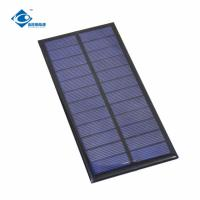 Quality 1.6W Epoxy Solar Panel Photovoltaic ZW-16675 Waterproof 6V solar battery charger for sale