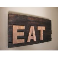 Buy cheap Wooden wall haning signs Letter Sign Eat Sign Wood Sign Home Decor Wall Decor Wall Art from wholesalers