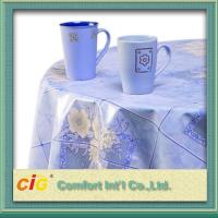 Buy cheap Flower Design Printing PVC Transparent Film Dining Table Cloth For Household Blue product