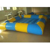 Buy cheap Rectangular Yellow / Blue Inflatable Above Ground Pools , Inflatable Family Pool For Backyard from wholesalers