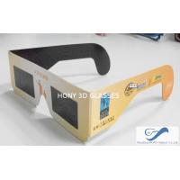 Buy cheap Cheap Paper Frame Solar Eclipse Viewing Glasses With 0.20mm PET Lenses from wholesalers