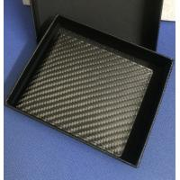 Buy cheap Factory Hot Supply Luxury RFID Security Blocking Real Carbon Fiber Wallet With Genuine Lea from wholesalers