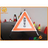 Buy cheap 70cm Length Exclamation Mark triangle road signs with Stable Aluminum Frame from wholesalers