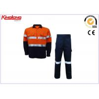 Buy cheap Customize Mens Hi Vis Clothing Safety Cotton Twill Fabric Long Sleeve Shirt And Pants from wholesalers