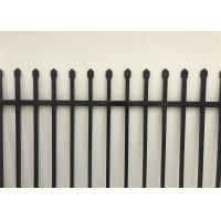 Buy cheap 2100mm x 2400mm Width Galvanized Steel Spear Top Garrison Fence Panels/Steel Picket Fencing from wholesalers