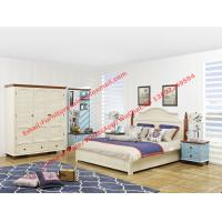 Buy cheap Vaulted chapel Mediterranean design bedroom furniture suite in matt white from wholesalers