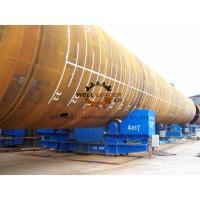 Heavy Duty Tank Turning Rolls , Heat Exchangers Pipe Welding Rotator 400 Ton