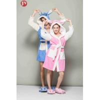Buy cheap Warm Coral Fleece Soft Bathrobe Nightgown Hoodie Animal Robes Sleepwear For Couple from wholesalers