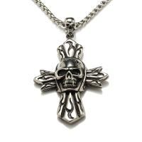 Buy cheap Hot sale big cross stainless steel necklace men body jewelry necklace from wholesalers