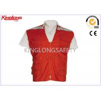 Buy cheap Polyester Traffic EN20471 Custom High Visibility Vest Class 2 Safety Vest from wholesalers