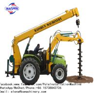 Buy cheap 5-8 Ton Fence Post Digging Machine , Tractor Auger Post Hole Diggers COC Certificated from wholesalers