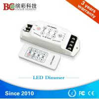 Buy cheap China DC 12V 24V 3 channels led light dimmer, strobe flash RF single color led dimmer from wholesalers