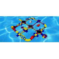 Buy cheap 0.9mm PVC Tarpaulin Huge Inflatable Water Parks 40m Diameter With Red / Blue Colour from Wholesalers