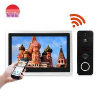 Buy cheap 10 Inch big touch screen ip video intercom wi-fi video door phone doorbell IP video door bell SIP from wholesalers