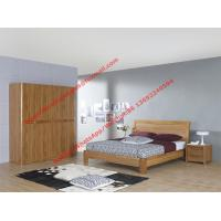 Buy cheap Bentwood headboard screen Concise design bed by Row skeleton bedstead with spring mattress and wardrobe product
