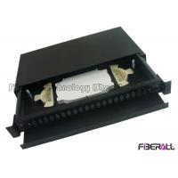 Buy cheap Black rack mount patch panel , Optical Terminal Box With Front Fiber Guide Panel from wholesalers