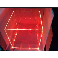 Buy cheap Customize Colored Acrylic Acrylic Storage Boxes With Cube Lights product