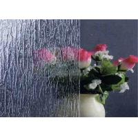 Decorating Clear Patterned Glass , 3mm Thickness Patterned Figured Glass