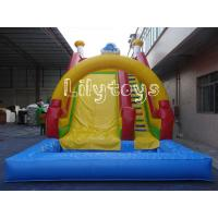 Buy cheap Customised Backyard Inflatable Water Slides Yellow PVC , EN71 / EN14960 from wholesalers
