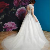 Buy cheap vintage portait pricess train elegant wedding dress from wholesalers