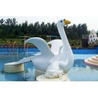 Buy cheap Customized Cygnet Slide Game For Kids, Fiberglass Small Water Pool Slides product