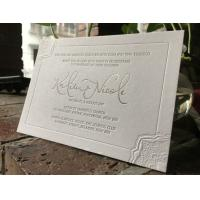 Buy cheap Letterpress Printing Custom Wedding Invitations Cards Elegant Design 12*17cm from wholesalers