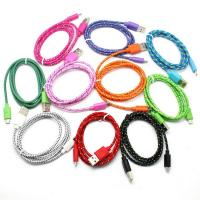 Buy cheap (Drop shipping) Colorful New 1M Fabric Nylon Braided Micro USB Cable for Samsung Sony HTC from wholesalers
