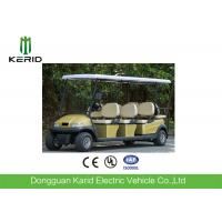 Buy cheap 8 Passenger Electric Golf Carts Club Car With Rear Seat 25km/h Max Speed from wholesalers