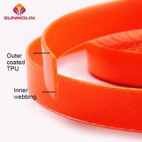 Buy cheap Orange durable  TPU coated webbing strap from wholesalers