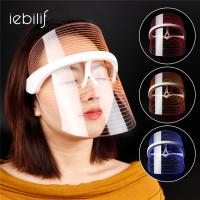 Buy cheap 3 Colors LED Light Therapy Face Mask USB Phototherapy Shrink Pores Anti Aging Anti Acne Facial SPA Instrument Treatment from wholesalers
