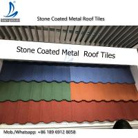 Buy cheap Metal Roofing Sheets Stone Coated Terracotta Red Coating Steel Roof Tile Prices from wholesalers