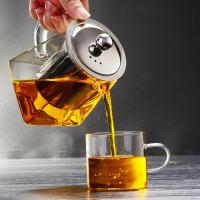 Buy cheap 2018 new design square shape pyrex glass teapot with infuser from wholesalers