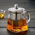 Buy cheap Best selling elegant heat resistant tea kettle borosilicate square glass tea pot from wholesalers