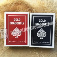 Buy cheap Gold Dragonfly Plastic Coated Playing Cards With 2 Regular Index from wholesalers