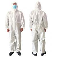 Buy cheap Breathable Disposable Isolation Gowns , Latex Free Disposable Protective Coveralls from wholesalers