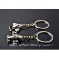 Buy cheap metal jet plane drop charm fob keychains, China wholesale jet plane model pendant keyrings from wholesalers