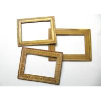 Buy cheap Blank Golden Fridge Magnet Photo Frame / Advertising Magnetic Picture Frames from wholesalers