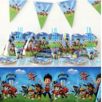 Buy cheap Paw patrol theme Children Party Sets Tableware Sets Paper Plate Napkins Happy Birthday Party Supplies Decoration from wholesalers
