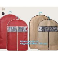 Buy cheap pp woven garment cover, non woven garment bags, suit bags, suit cover, dust cover, non woven zipper clothes bags, clothe from wholesalers