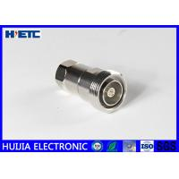 Buy cheap RF Straight Female Din Connector , TFE Insulators 50ohm 1/2 Coaxial Cable Adapter from wholesalers